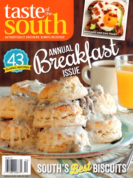 Taste of the South Cover - 3/1/2015