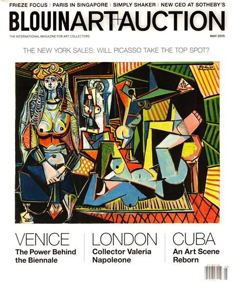 Blouin Art & Auction Cover - 5/1/2015