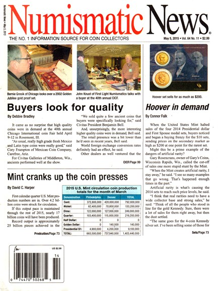 Numismatic News Cover - 5/5/2015