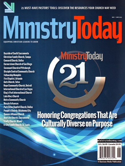 Ministry Today Cover - 5/1/2015