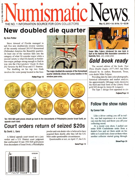 Numismatic News Cover - 5/12/2015