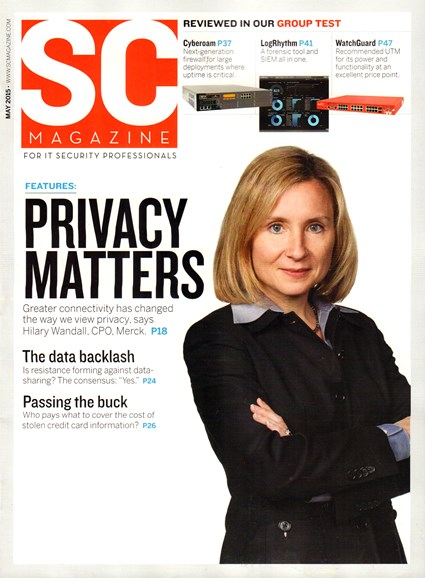 SC Magazine - U.S. edition Cover - 5/1/2015