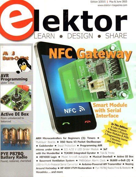 Elektor - North American Edition Cover - 5/1/2015