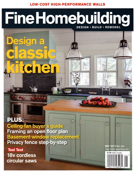 Fine Homebuilding Cover - 5/1/2015