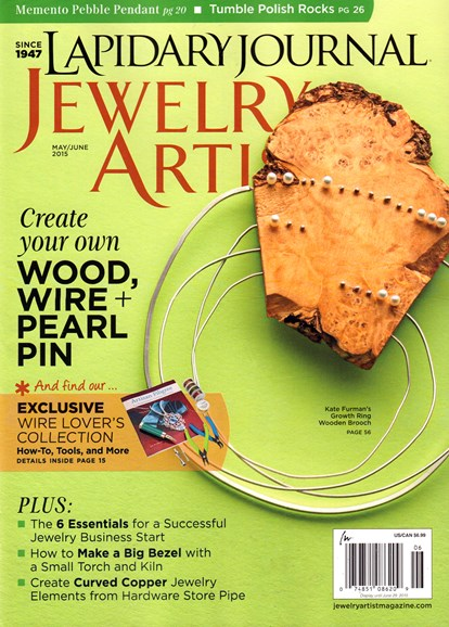 Lapidary Journal Jewelry Artist Cover - 5/1/2015