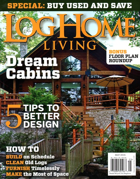 Log Home Living Cover - 5/1/2015