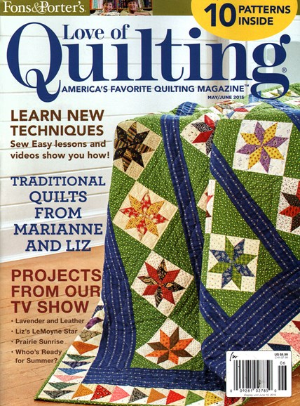 Fons & Porter's Love of Quilting Cover - 5/1/2015