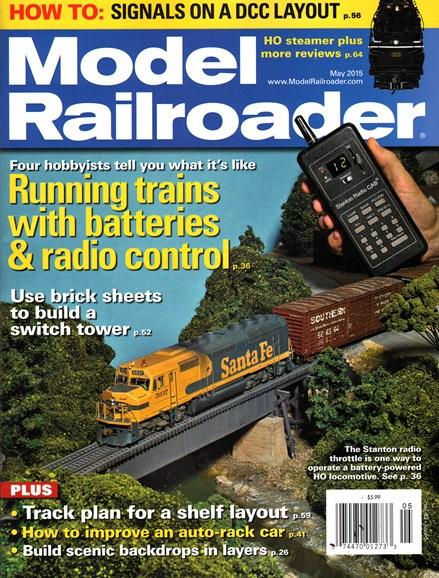 Model Railroader Cover - 5/1/2015