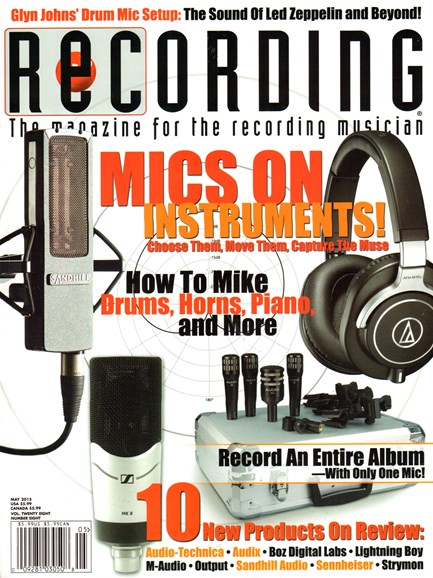 Recording Magazine Cover - 5/1/2015