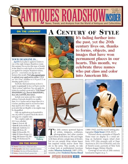 Antiques Roadshow Insider Cover - 4/1/2013