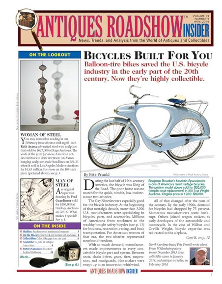 Antiques Roadshow Insider Cover - 4/1/2014