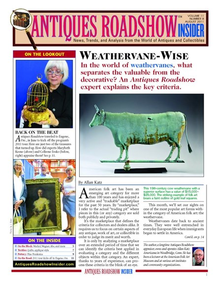 Antiques Roadshow Insider Cover - 8/1/2011