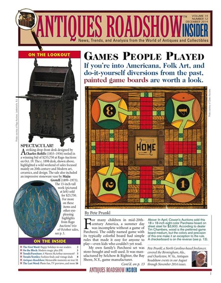 Antiques Roadshow Insider Cover - 12/1/2014