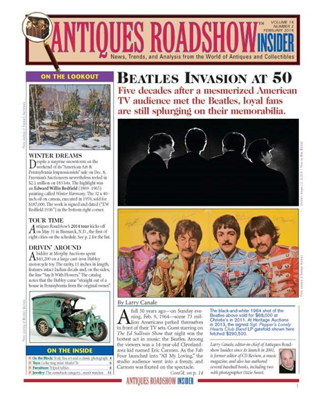 Antiques Roadshow Insider Cover - 2/1/2014