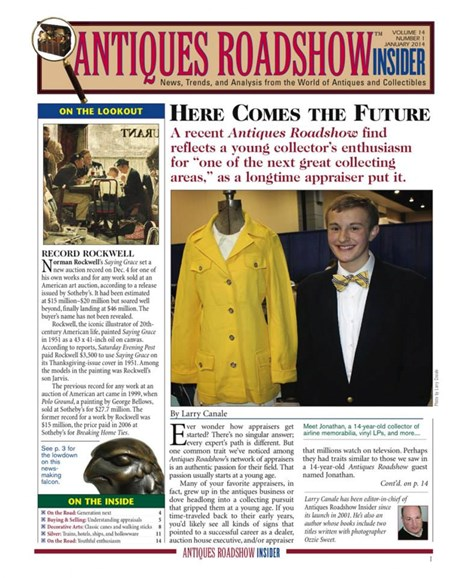 Antiques Roadshow Insider Cover - 1/1/2014