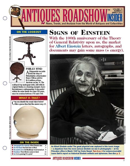 Antiques Roadshow Insider Cover - 3/1/2015