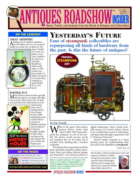 Antiques Roadshow Insider Cover - 5/1/2011