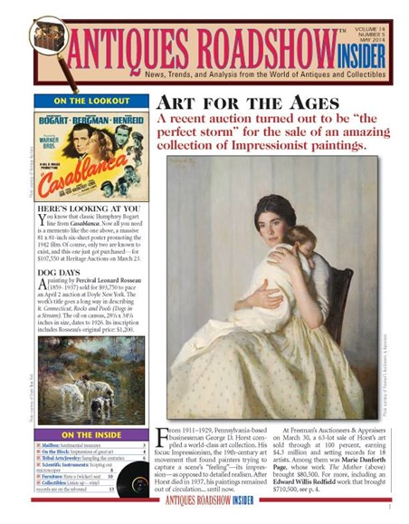 Antiques Roadshow Insider Cover - 5/1/2014