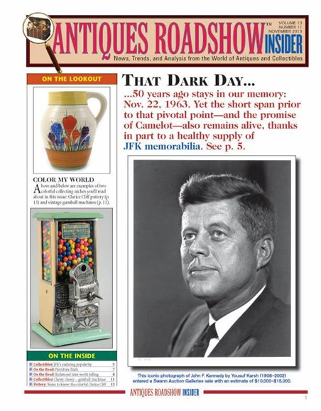 Antiques Roadshow Insider Cover - 11/1/2013