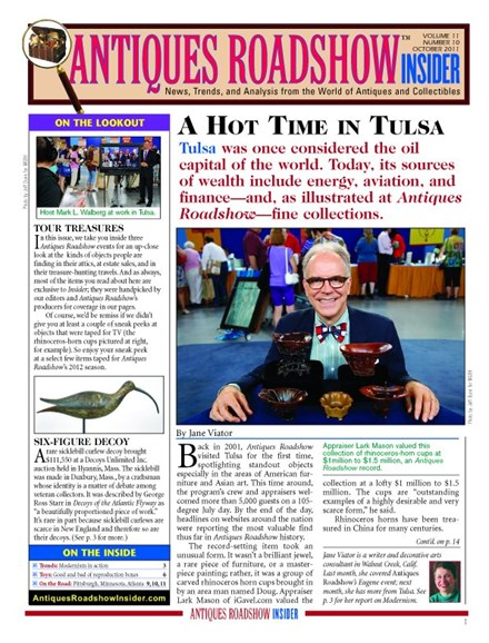 Antiques Roadshow Insider Cover - 10/1/2011