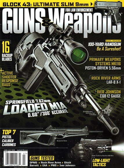 Guns & Weapons For Law Enforcement Cover - 6/1/2015