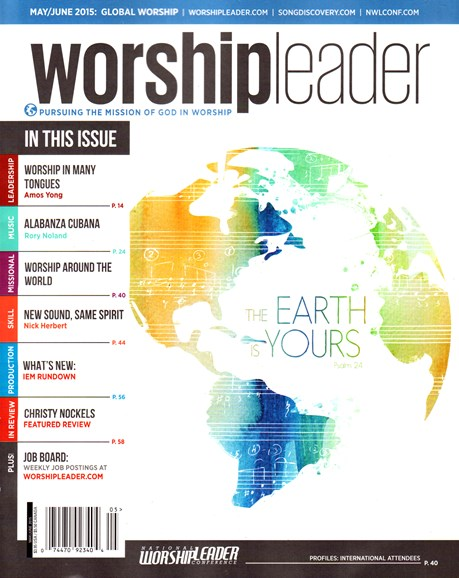 Worship Leader Magazine Cover - 5/1/2015