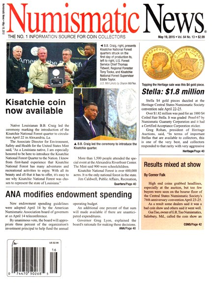 Numismatic News Cover - 5/19/2015