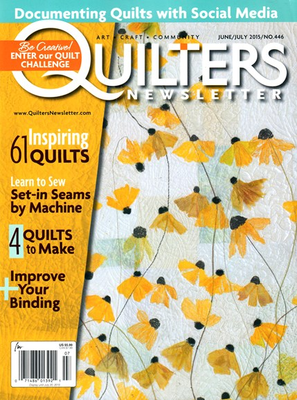 Quilter's Newsletter Cover - 6/1/2015