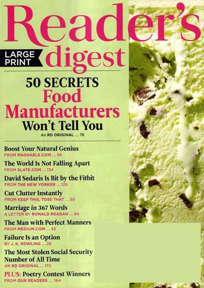 Reader's Digest - Large Print Edition Cover - 6/1/2015