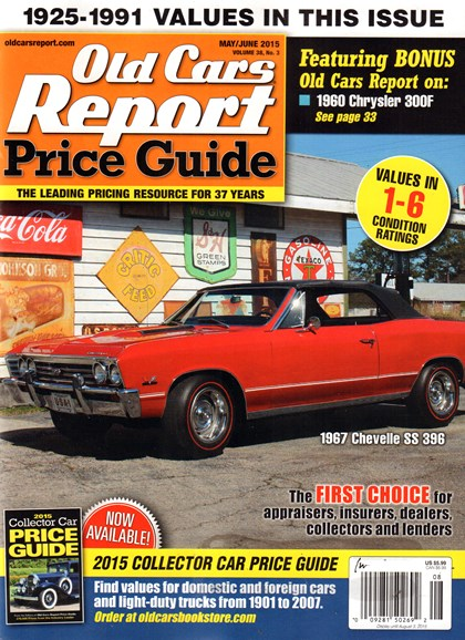 Old Cars Report Price Guide Cover - 5/1/2015