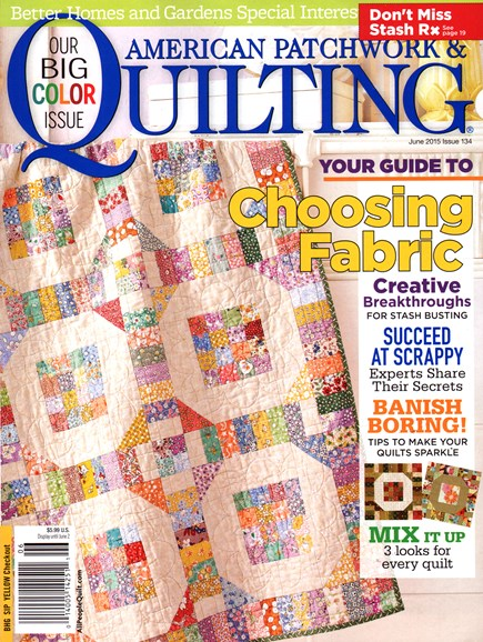 American Patchwork & Quilting Cover - 6/1/2015