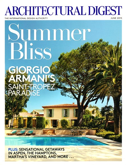Architectural Digest Cover - 6/1/2015