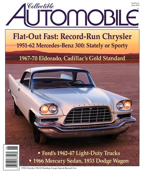 Collectible Automobile Cover - 6/1/2015