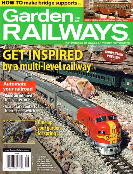 Garden Railways Cover - 6/1/2015