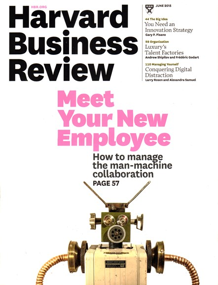 Harvard Business Review Cover - 6/1/2015