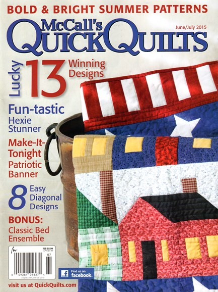 McCall's Quick Quilts Cover - 6/1/2015