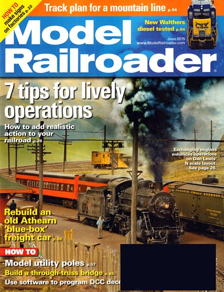 Model Railroader Cover - 6/1/2015