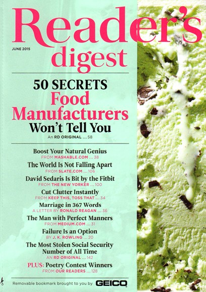 Reader's Digest Cover - 6/1/2015