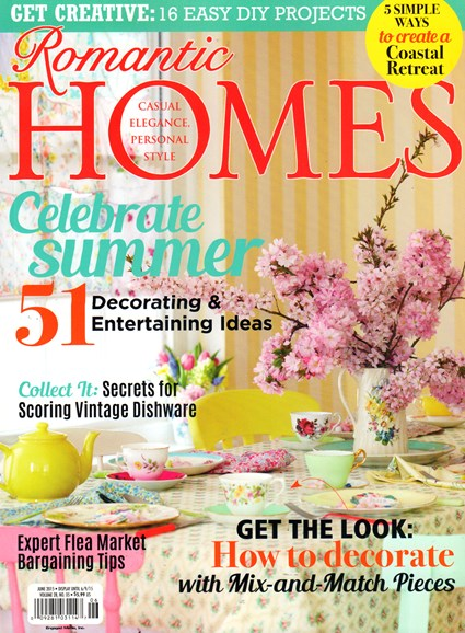 Romantic Homes Cover - 6/1/2015