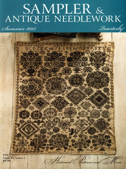 Sampler & Antique Needlework Qtry Magazine Cover - 6/1/2015