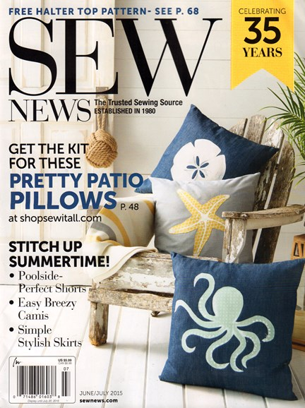 Sew News Cover - 6/1/2015