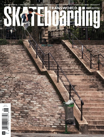 Transworld SKATEboarding Cover - 6/1/2015