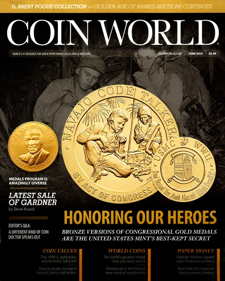Coin World Weekly Cover - 6/1/2015