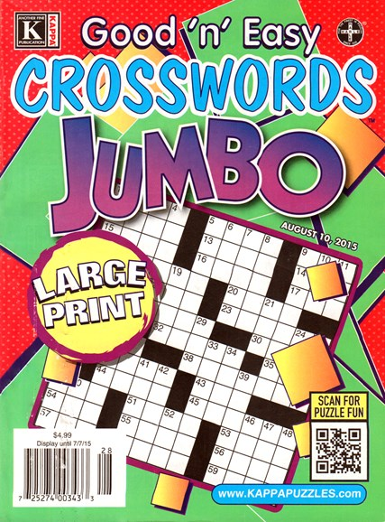 Good N Easy Crosswords Jumbo Cover - 8/10/2015