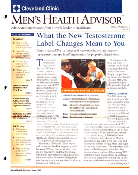 Men's Health Advisor Cover - 6/1/2015