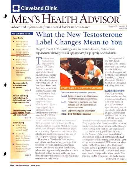 Men's Health Advisor Cover - 6/1/2015