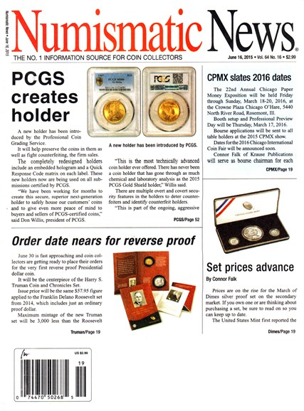 Numismatic News Cover - 6/16/2015