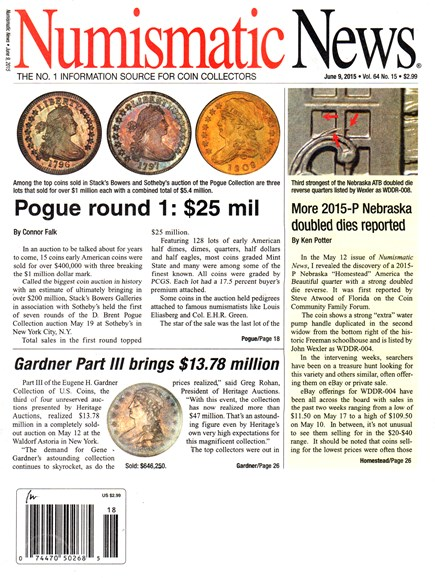 Numismatic News Cover - 6/9/2015