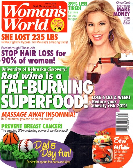 Woman's World Cover - 6/22/2015