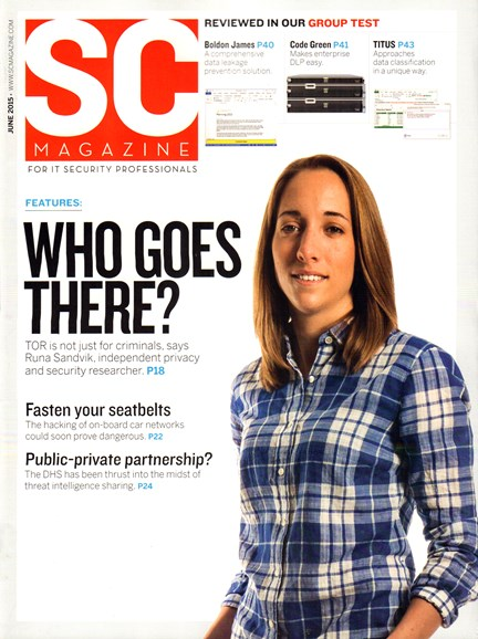 SC Magazine - U.S. edition Cover - 6/1/2015